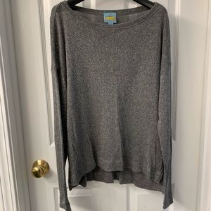 C&C California knit silver gray sweater size m